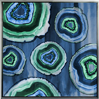 Geodes II Framed Outdoor Wall Art
