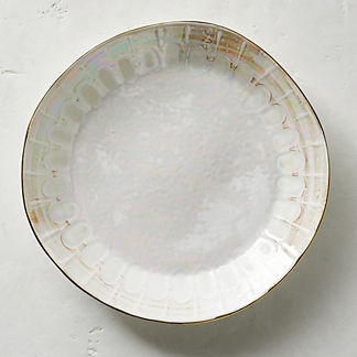 Donatella Mother of Pearl Dinner Plates, Set of Four