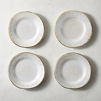 Donatella Mother of Pearl Appetizer Plates, Set of Four