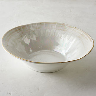 Donatella Mother of Pearl Serving Bowl
