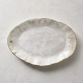 Donatella Mother of Pearl Oval Platter