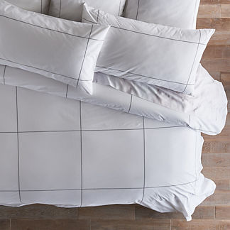 Statuario Windowpane Duvet Cover