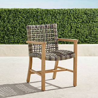 Isola Dining Arm Chair in Natural Finish