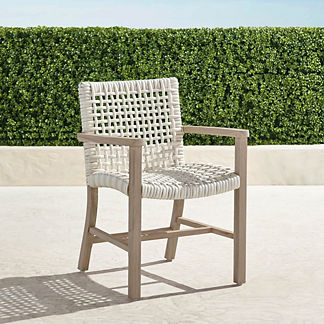 Isola Dining Arm Chair in Weathered Finish