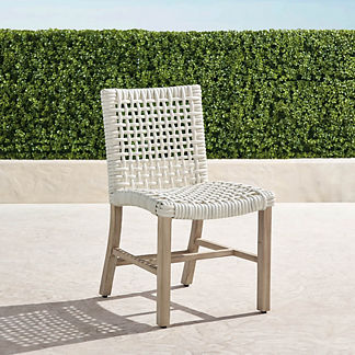 Isola Dining Side Chairs, in Weathered Finish, Set of Two