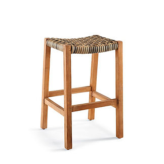 Isola Backless Barstool in Natural Finish