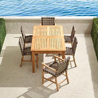 Isola 7-pc. Rectangular Dining Set in Natural Finish