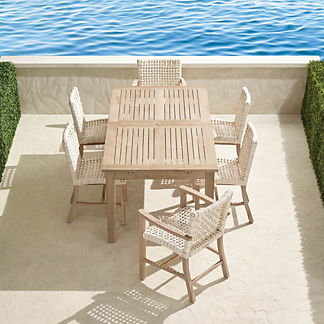 Isola 7-pc. Rectangular Dining Set in Weathered Finish