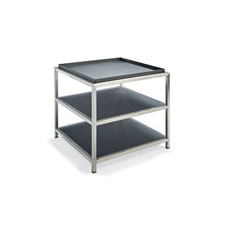 Metropolitan Side Table in Panther Finish