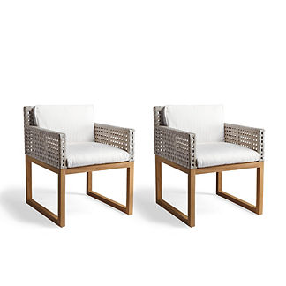 Palisades Set Of Two Dining Chairs With Cushions