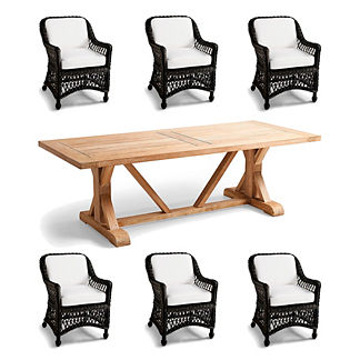 Hampton Washed Teak 7-p
