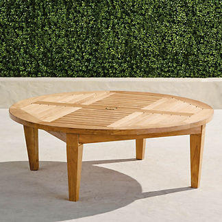 Teak Chat Table in Natural Finish