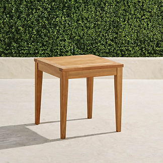 Square Teak Side Table in Natural Finish