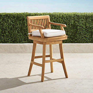 Cassara Swivel Bar Stool in Natural Finish