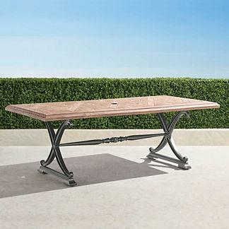 Carlisle Faux Wood Dining Table in Slate Finish