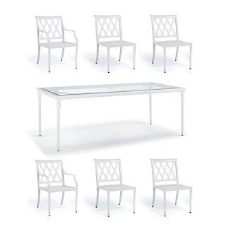 Grayson 7-pc. Rectangular Dining Set in White Finish