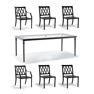 Grayson 7-pc. Rectangular Dining Set in Black Finish