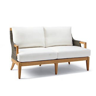 Roseau Loveseat Chair with Cushions, Special Order