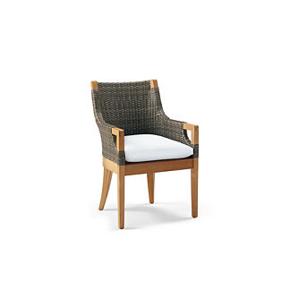 Roseau Dining Arm Chair with Cushion, Special Order