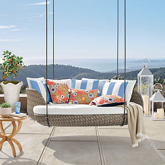 Malia Hanging Daybed in Pebble Finish, Special Order