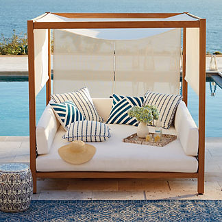 interesting outdoor beds with canopy. Mandabo Daybed Outdoor Furniture with Canopy  Frontgate
