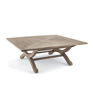 Square Teak Coffee Table in Weathered Finish