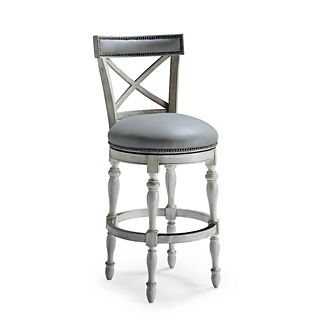 Griffith X-Back Swivel Bar Height Bar Stool (30