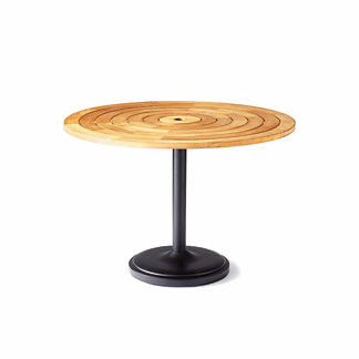 Teak Umbrella Hole Table. Lorenzo Teak Cafe Table
