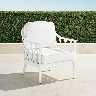 Avery Lounge Chair with Cushions in White Finish, Special Order