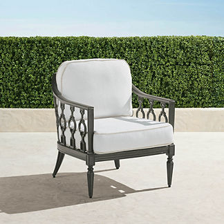 Avery Lounge Chair with Cushions in Slate Finish, Special Order