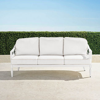 Avery Sofa with Cushions in White Finish