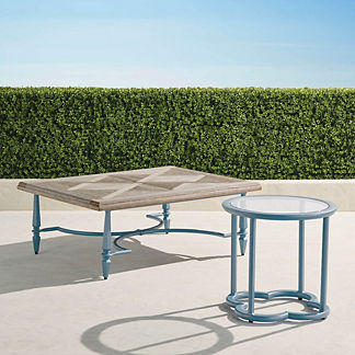 Avery Tables in Moonlight Blue Finish