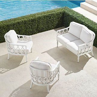 Avery 3-pc. Loveseat Set in White Finish