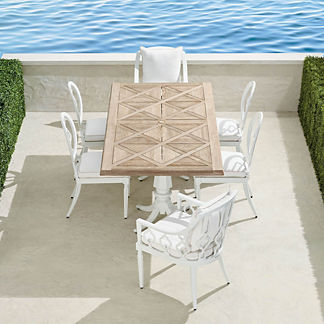 Avery 7-pc. Rectangular Dining Set in White