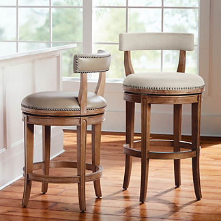 Henning Low Back Swivel Bar & Counter Stool