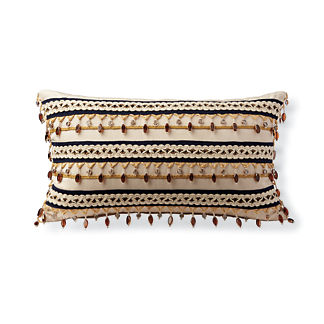 Alani Beaded Outdoor Lumbar Pillow