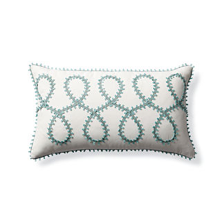Picot Loop Outdoor Lumbar Pillow