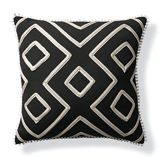 Geometric Columns Outdoor Pillow