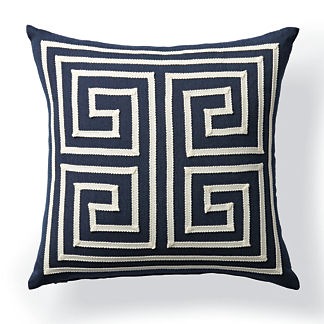 Corner Keys Indigo Outdoor Pillow