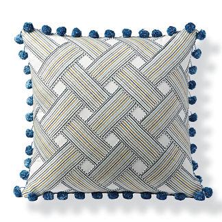 Basketweave Stripe Outdoor Pillow