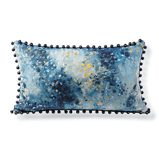 Midnight Splatter Outdoor Lumbar Pillow