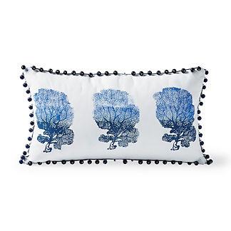 Ombre Coral Outdoor Lumbar Pillow