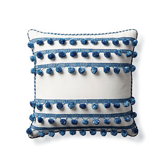 Pom Pom Rows Indoor/Outdoor Pillow