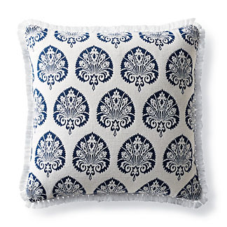 Denby Velvet Navy Outdoor Pillow