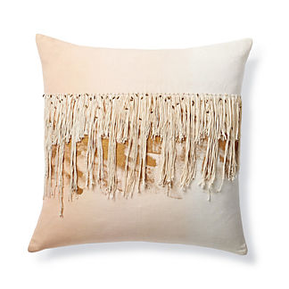 Ombre Fringe Decorative Pillow