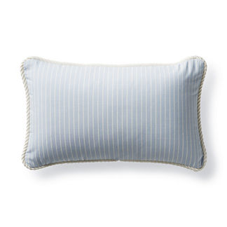Cara Stripe Air Blue Outdoor Lumbar Pillow