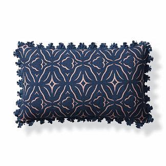 Chiseled Fret Petal Outdoor Lumbar Pillow