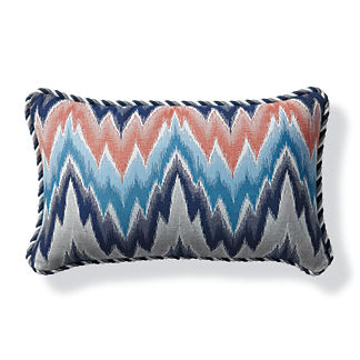 Fiamma Ikat Flame Outdoor Lumbar Pillow