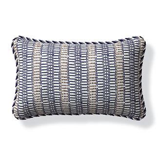 Sayulita Indigo Outdoor Lumbar Pillow