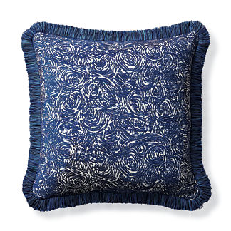 Alistair Sapphire Outdoor Pillow